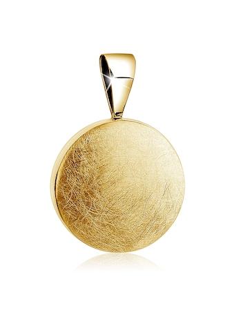 Nenalina Kettenanhänger »Kreis Plättchen Rund Trend gebürstet 925 Silber« kaufen