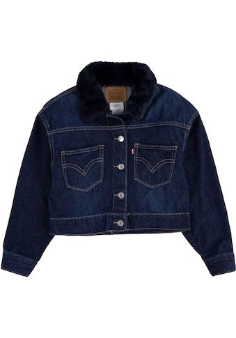 Levi's Kidswear Jeansjacke »OVERSIZED TRUCKER«, mit Puschelkragen kaufen