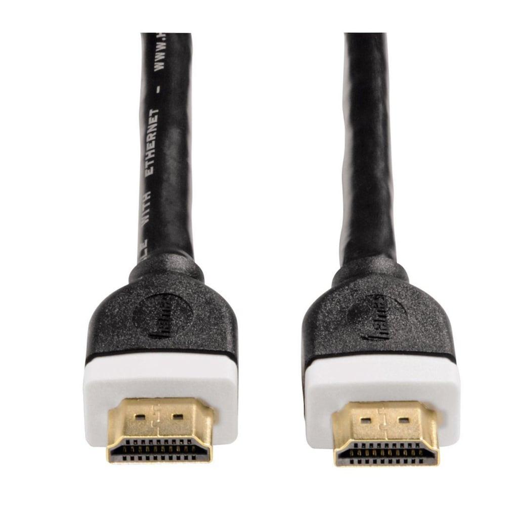 Hama HDMI-Kabel »High Speed, bis 18 Gbit/s«, Cinch-HDMI, HDMI Kabel 10m, 4k, 3D, Ethernet Anschlusskabel