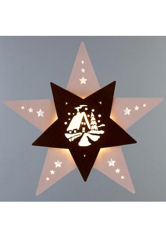 Weigla,LED Fensterbild»Waldhütte«, kaufen
