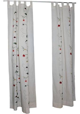 HOSSNER - ART OF HOME DECO Vorhang »Wörthersee«, floraler Shabby-Chic in Bahnen-Optik kaufen
