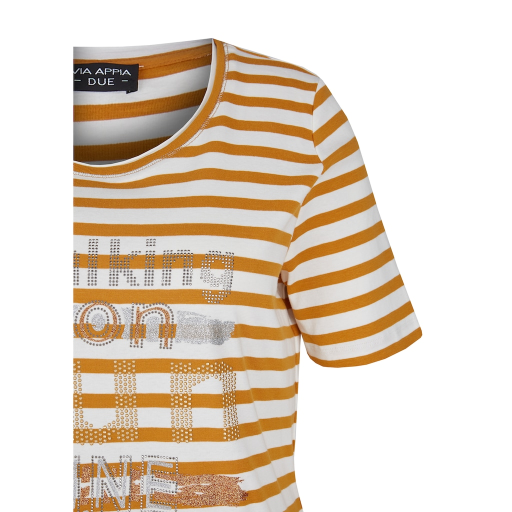 VIA APPIA DUE T-Shirt, mit Glitzersteinen