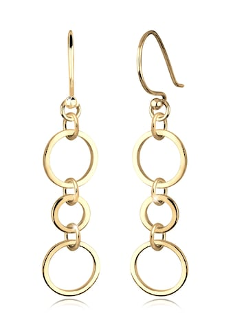 Elli Paar Ohrhänger »Ringe Kreise Geo Elegant Filigran Silber vergoldet« kaufen
