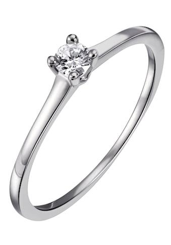 Firetti Diamantring »Solitär, ca.1,40 mm breit, Krappenfassung, Glanz, massiv«, mit... kaufen