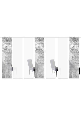 HOME WOHNIDEEN Schiebegardine »WALLONA 7ER SET«, HxB: 245x60 kaufen