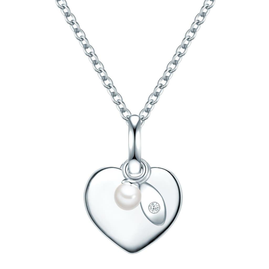 Valero Pearls Herzkette »Y901«, (1 tlg.), aus Süßwasserperlen