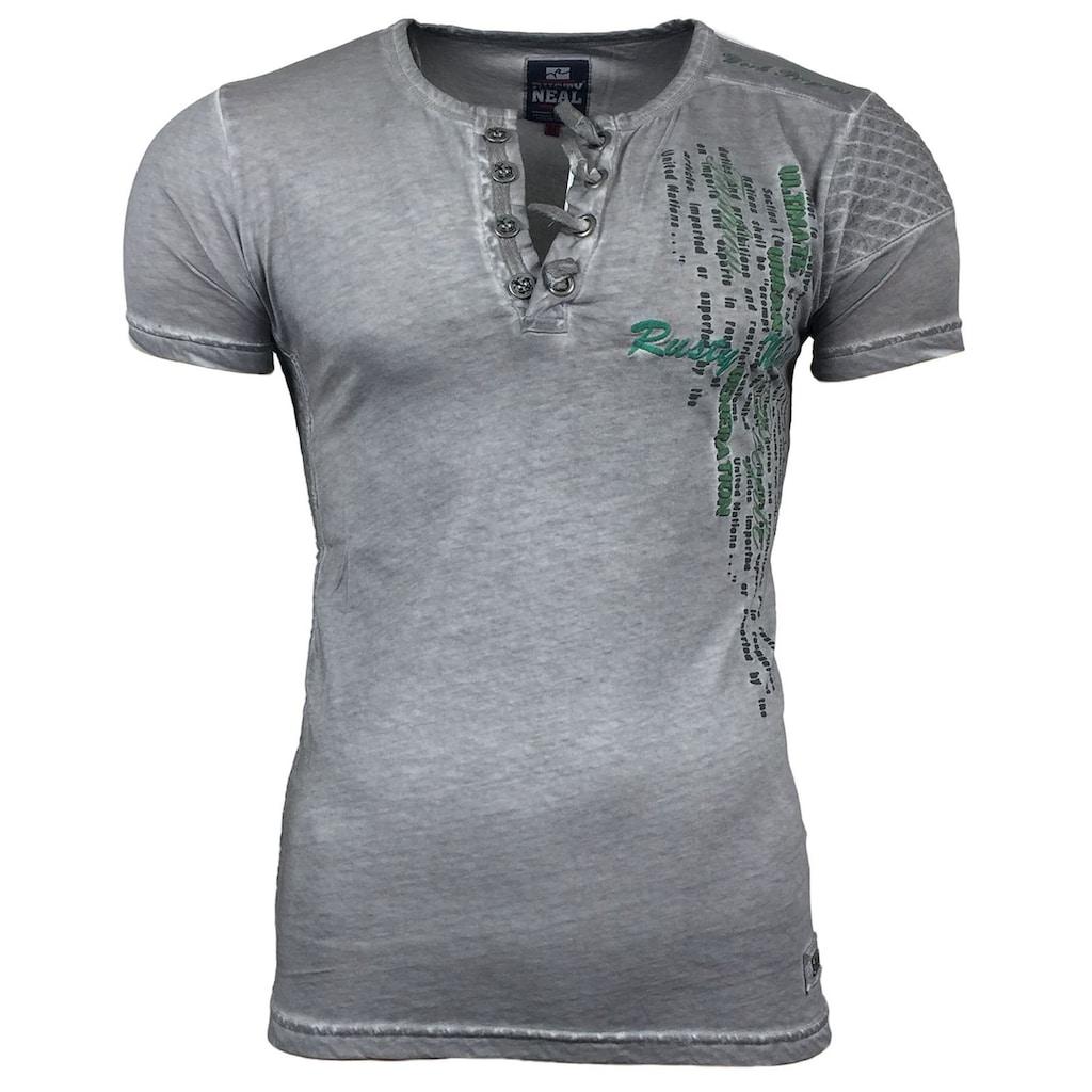 Rusty Neal T-Shirt mit Marken-Print