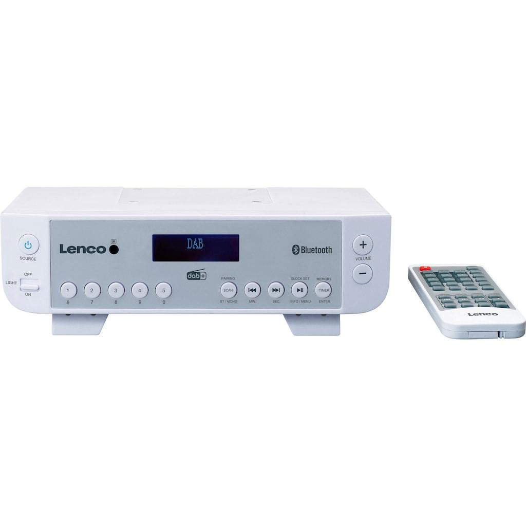 Lenco Küchen-Radio »KCR-200«, (Bluetooth Digitalradio (DAB+)-FM-Tuner mit RDS)