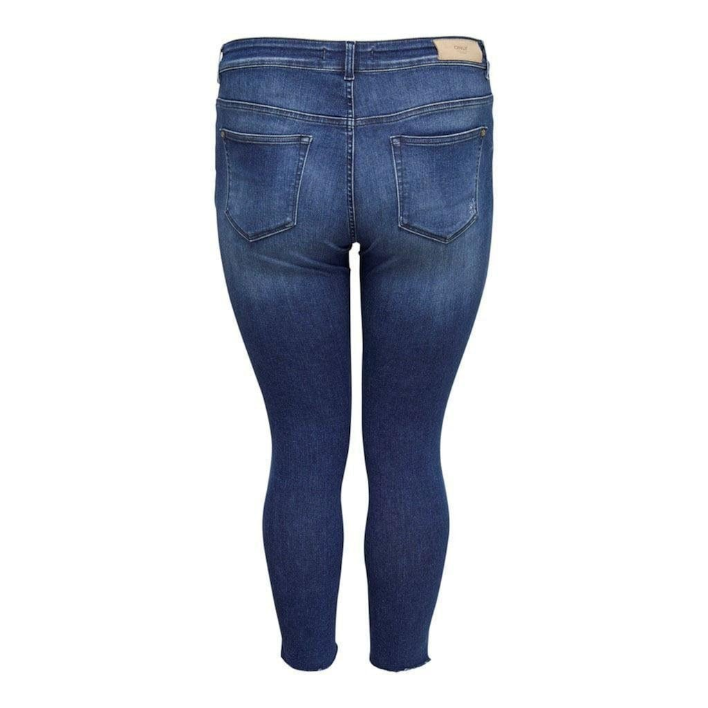 ONLY CARMAKOMA Skinny-fit-Jeans »Willy«, mit Fransensaum