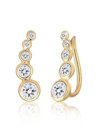 Elli Paar Ohrstecker »Ohrklemme Ear Cuffs mit Kristalle« kaufen