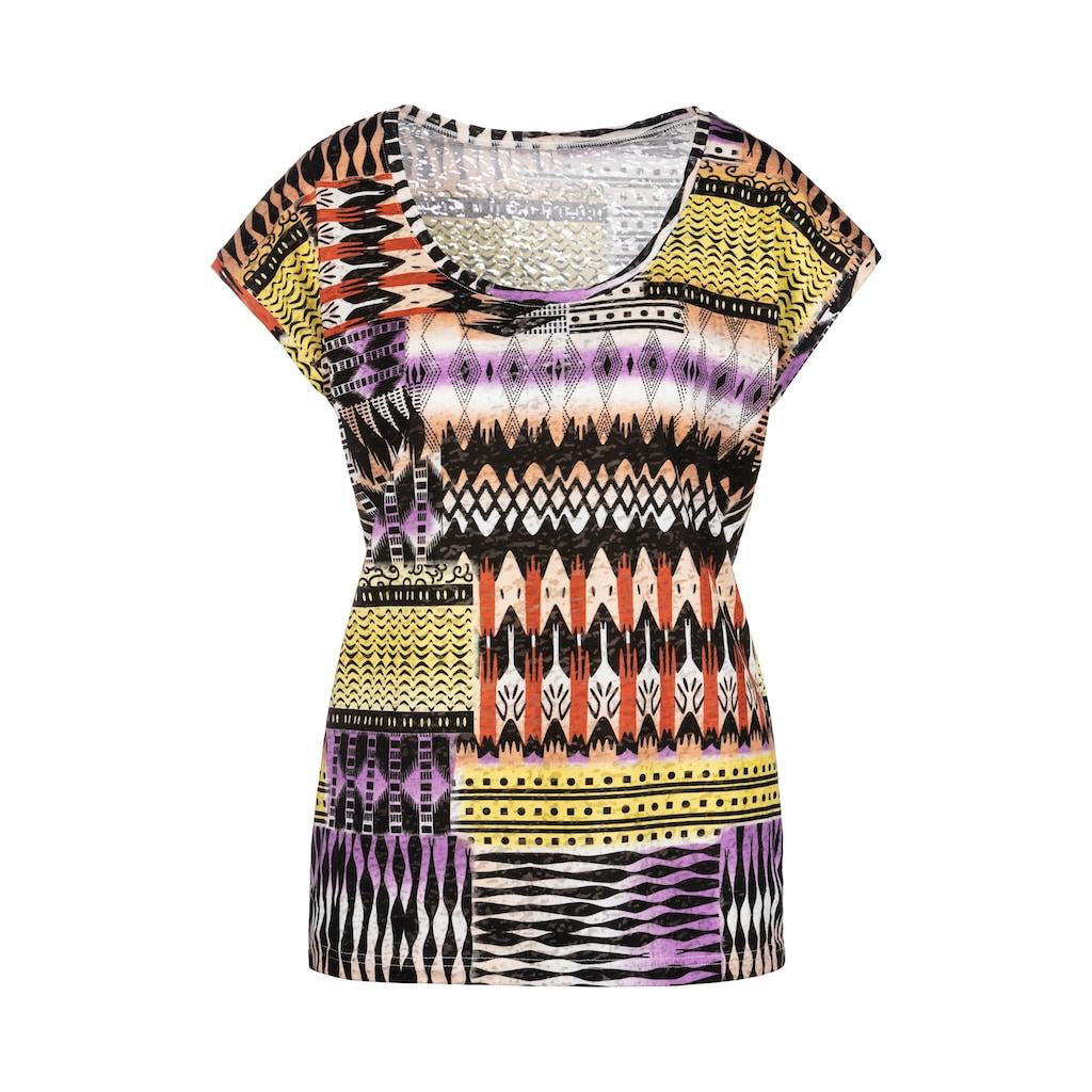 Buffalo T-Shirt, Ausbrenner-Qualität mit modischem Druck