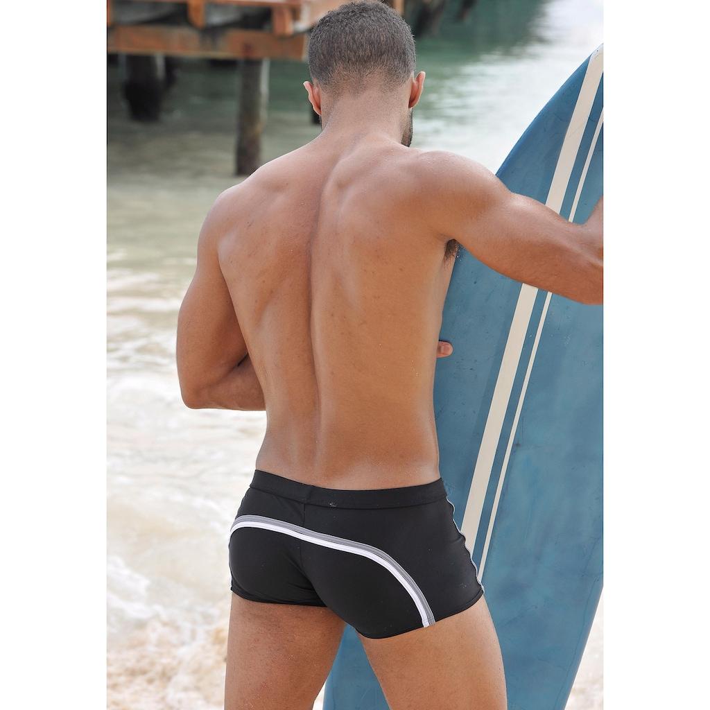 Chiemsee Boxer-Badehose, mit modischen Kontrastpaspelierungen