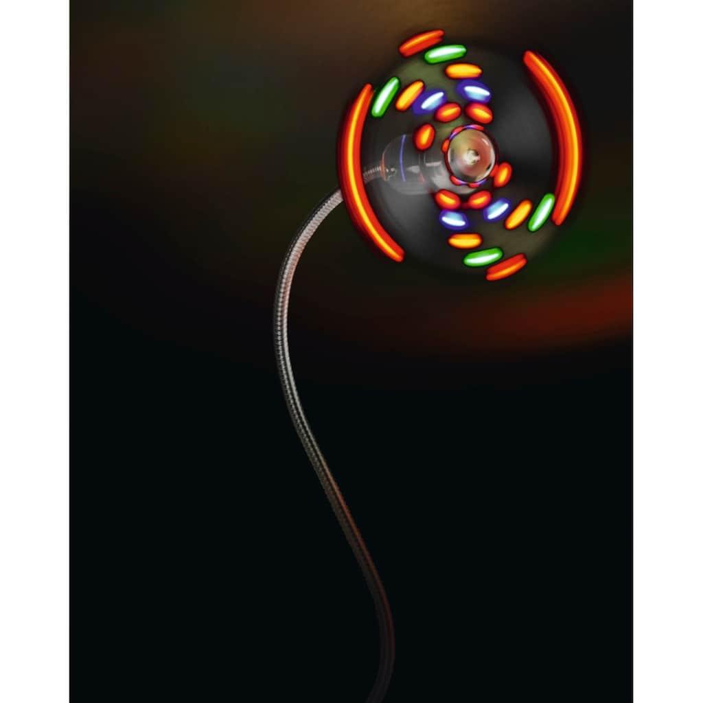 Hama USB Ventilator flexibler Schwanenhals mit bunten LEDs