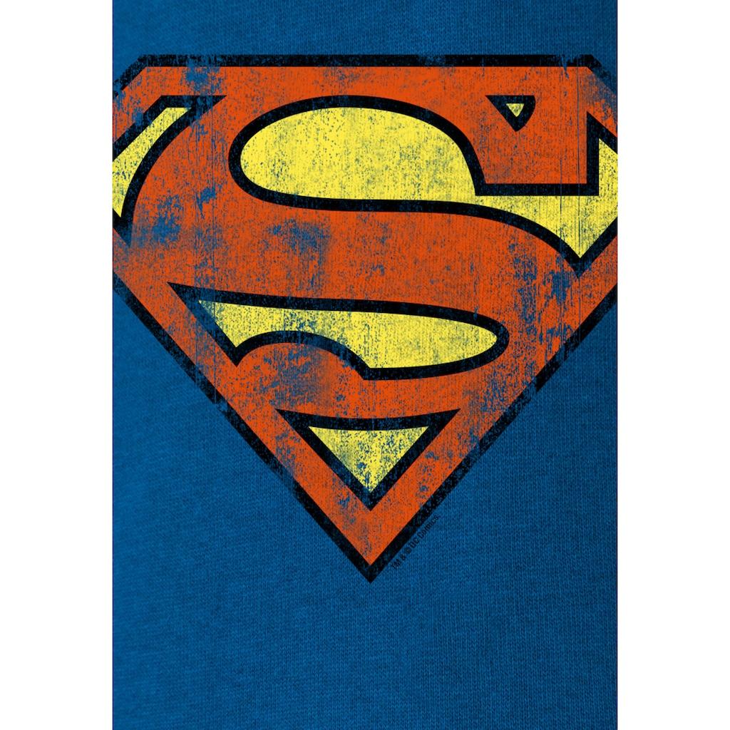 LOGOSHIRT Kapuzensweatshirt, mit Superman-Logo