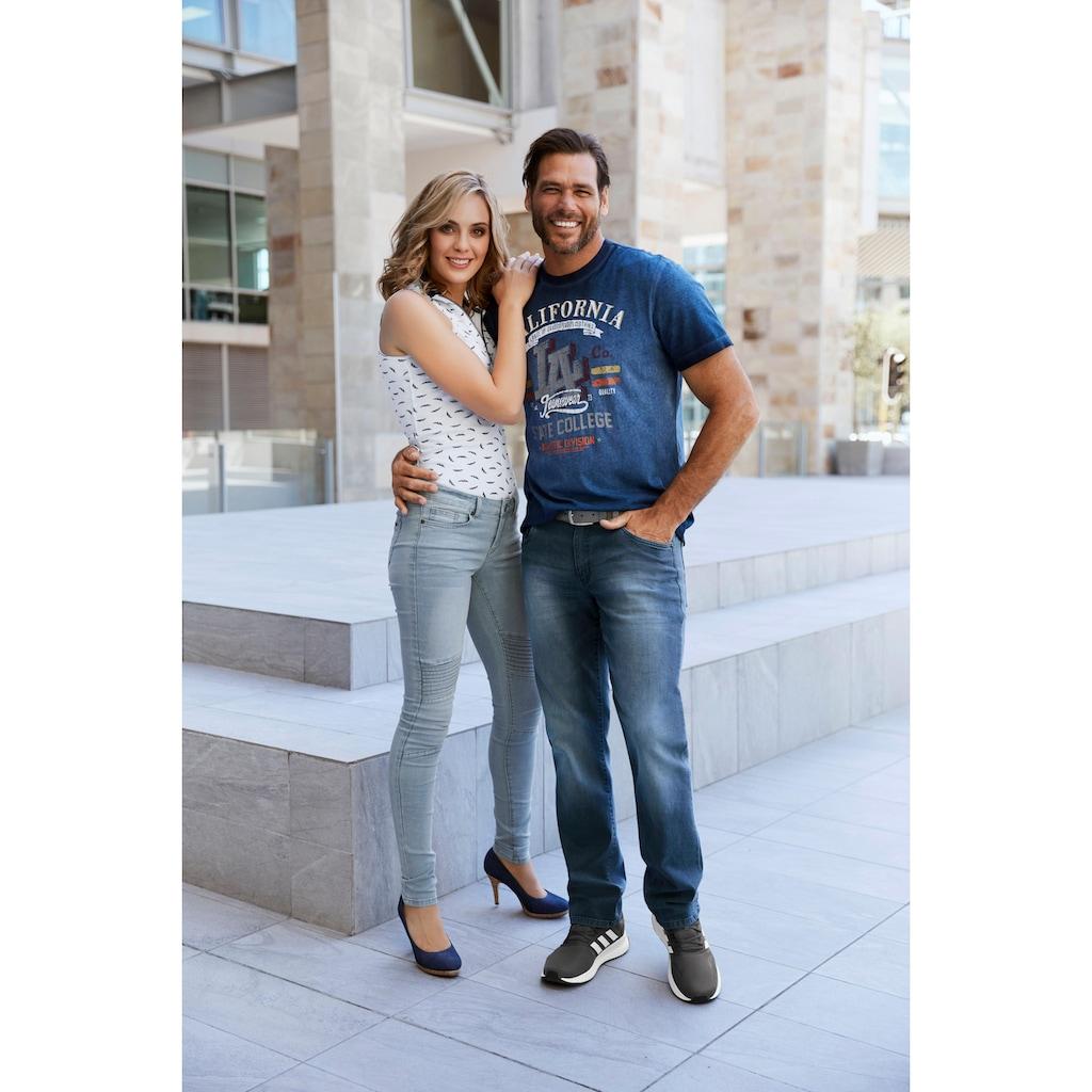 Arizona Skinny-fit-Jeans »im Biker- Look«, Low Waist