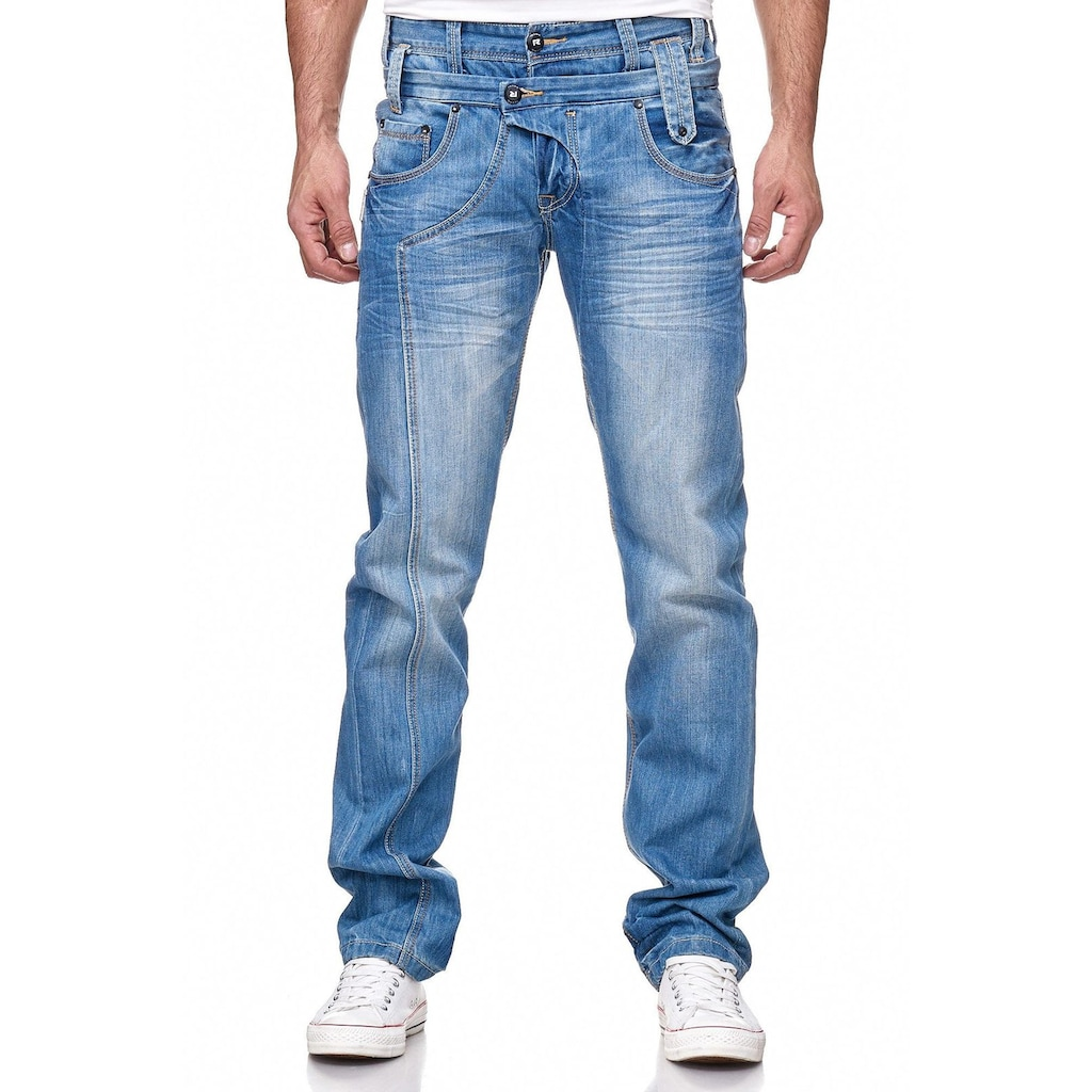 Rusty Neal Jeanshose mit angesagter Waschung