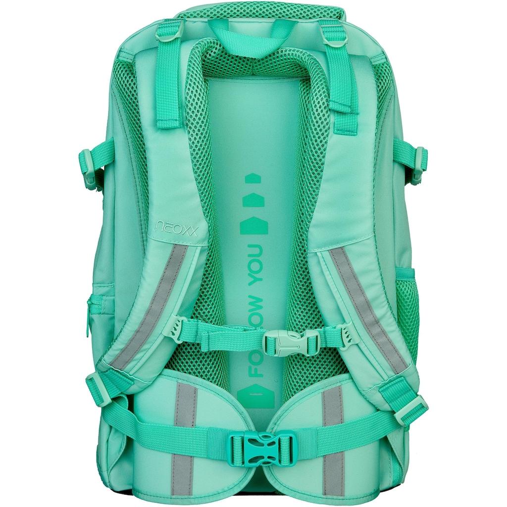 neoxx Schulrucksack »Active, Mint to be«, aus recycelten PET-Flaschen