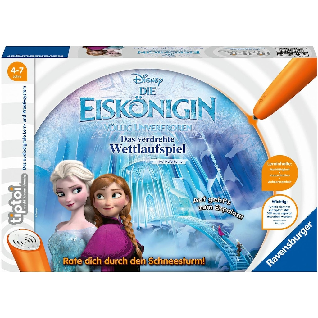 Ravensburger Spiel »Disney Die Eiskönigin - Völlig unverfroren: Das verdrehte Wettlaufspiel«, Made in Europe, FSC® - schützt Wald - weltweit