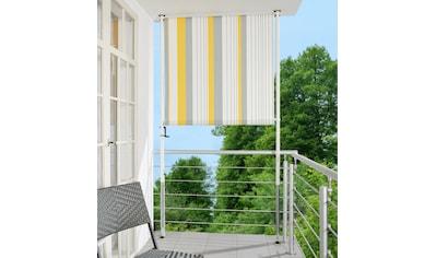 ANGERER FREIZEITMÖBEL Klemm - Senkrechtmarkise »Nr. 600«, gelb/grau, BxH: 120x225 cm kaufen