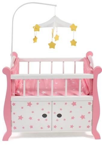 CHIC2000 Puppenbett »Stars Pink«, aus Holz mit Mobile kaufen