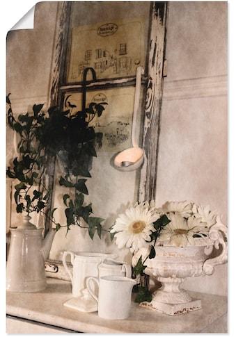 Artland Wandbild »Shabby Charme Stillleben mit Teelight«, Vasen & Töpfe, (1 St.), in... kaufen