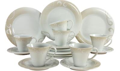 CreaTable Kaffeeservice »Soft Finesse«, (Set, 18 tlg.), Rankenornament kaufen