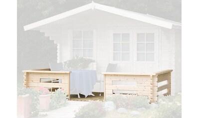 WOLFF FINNHAUS Terrasse für Gartenhaus, BxT: 360x200 cm, 44 mm kaufen