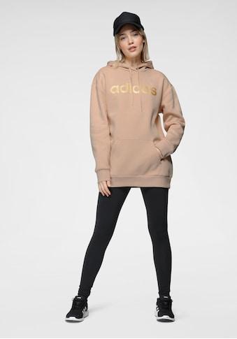 adidas Performance Kapuzensweatshirt »WOMEN LINEAR OVERSIZED FLEECE HOODIE« kaufen