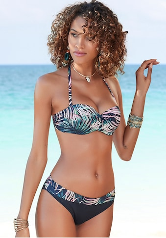 LASCANA Bügel-Bandeau-Bikini-Top »Reese«, im Palmendesign kaufen