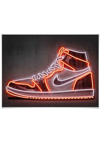 Wall-Art Poster »Mielu Nike Schuh Neon Sneaker«, Schuh, (1 St.), Poster, Wandbild,... kaufen