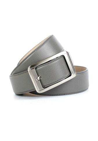 Anthoni Crown Ledergürtel, Jeansledergürtel in grau kaufen