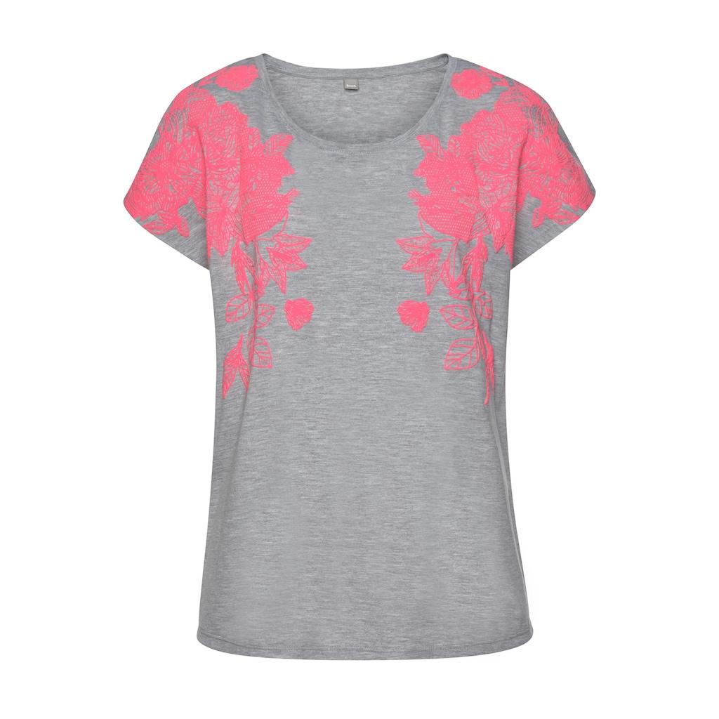 Bench. T-Shirt, mit Neonprint