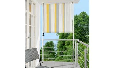 ANGERER FREIZEITMÖBEL Klemm - Senkrechtmarkise »Nr. 600«, gelb/grau, BxH: 150x225 cm kaufen