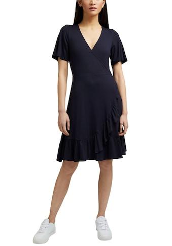 Esprit Wickelkleid, in Wickeloptik mit Rüschenkante kaufen
