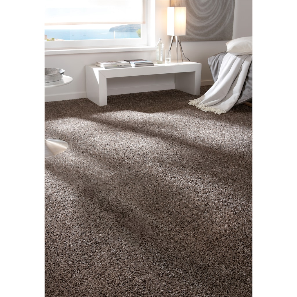 Andiamo Teppichboden »Elena«, rechteckig, 19 mm Höhe, Meterware, Breite 400 cm, antistatisch, uni