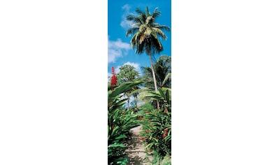 PAPERMOON Fototapete »Palm Path  -  Türtapete«, Vlies, 2 Bahnen, 90 x 200 cm kaufen