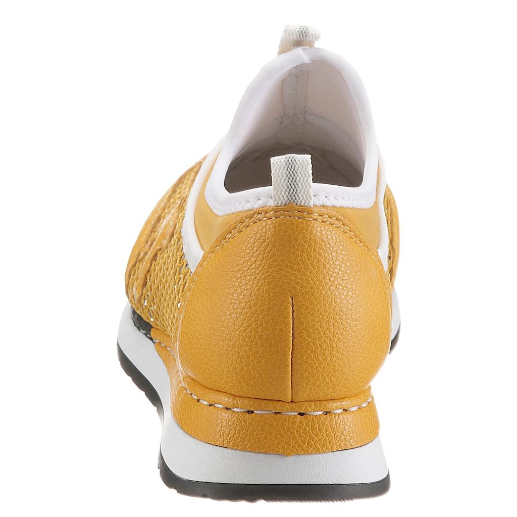 Rieker Slip-On Sneaker, in glitzernder Optik