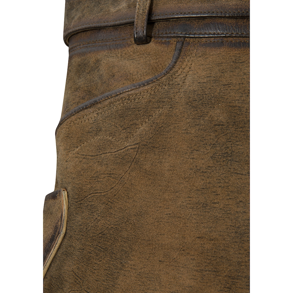 Country Line Trachtenlederhose, (mit abnehmbarem Gürtel), mit Gürtel