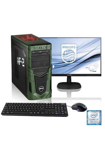 "Hyrican Gaming PC i7 - 9700F, RTX 2060, 16GB RAM + 61 cm (24"") TFT »Military Gaming SET1902« kaufen"