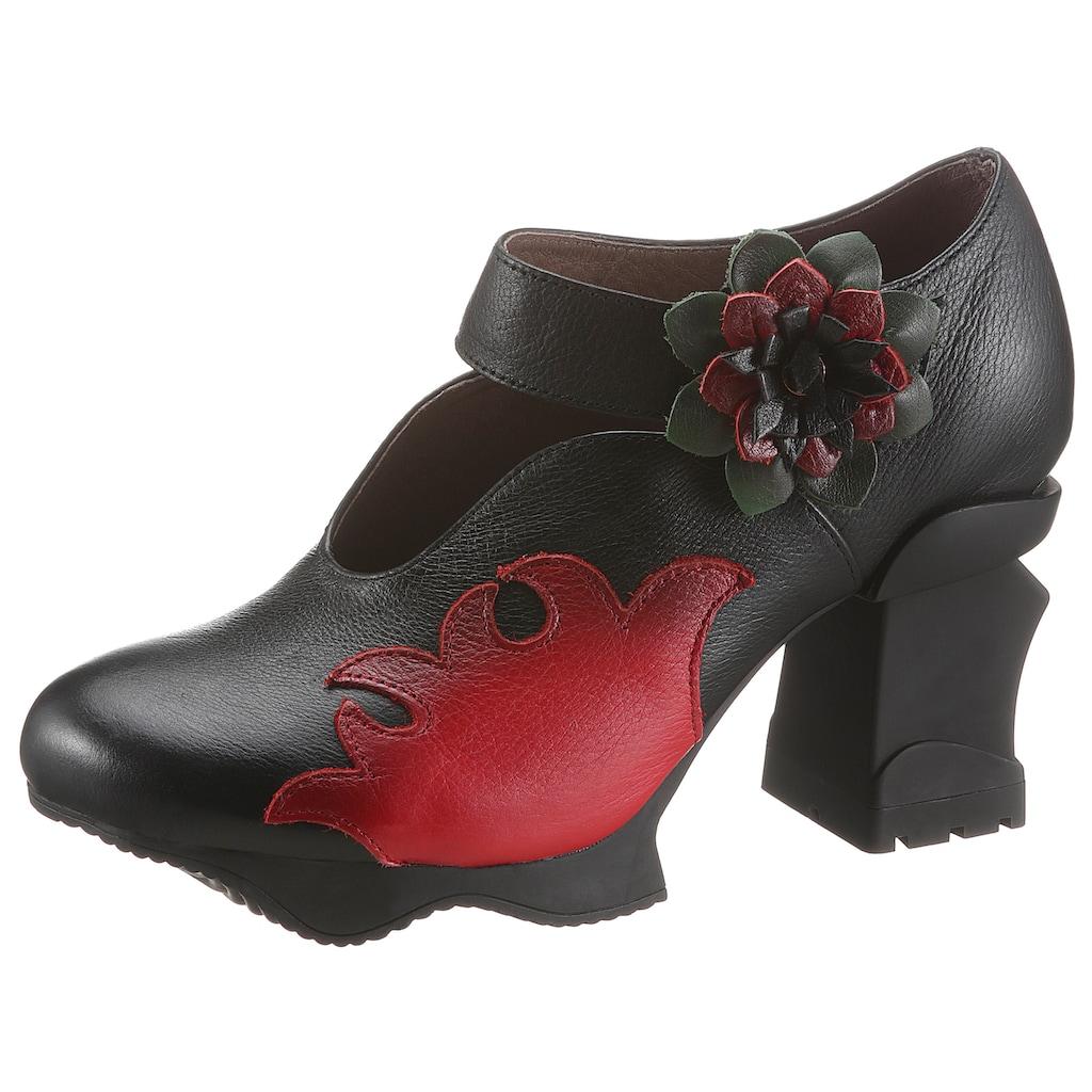 LAURA VITA Spangenpumps »Arcmanceo«, mit kontrastfarbiger Blüte