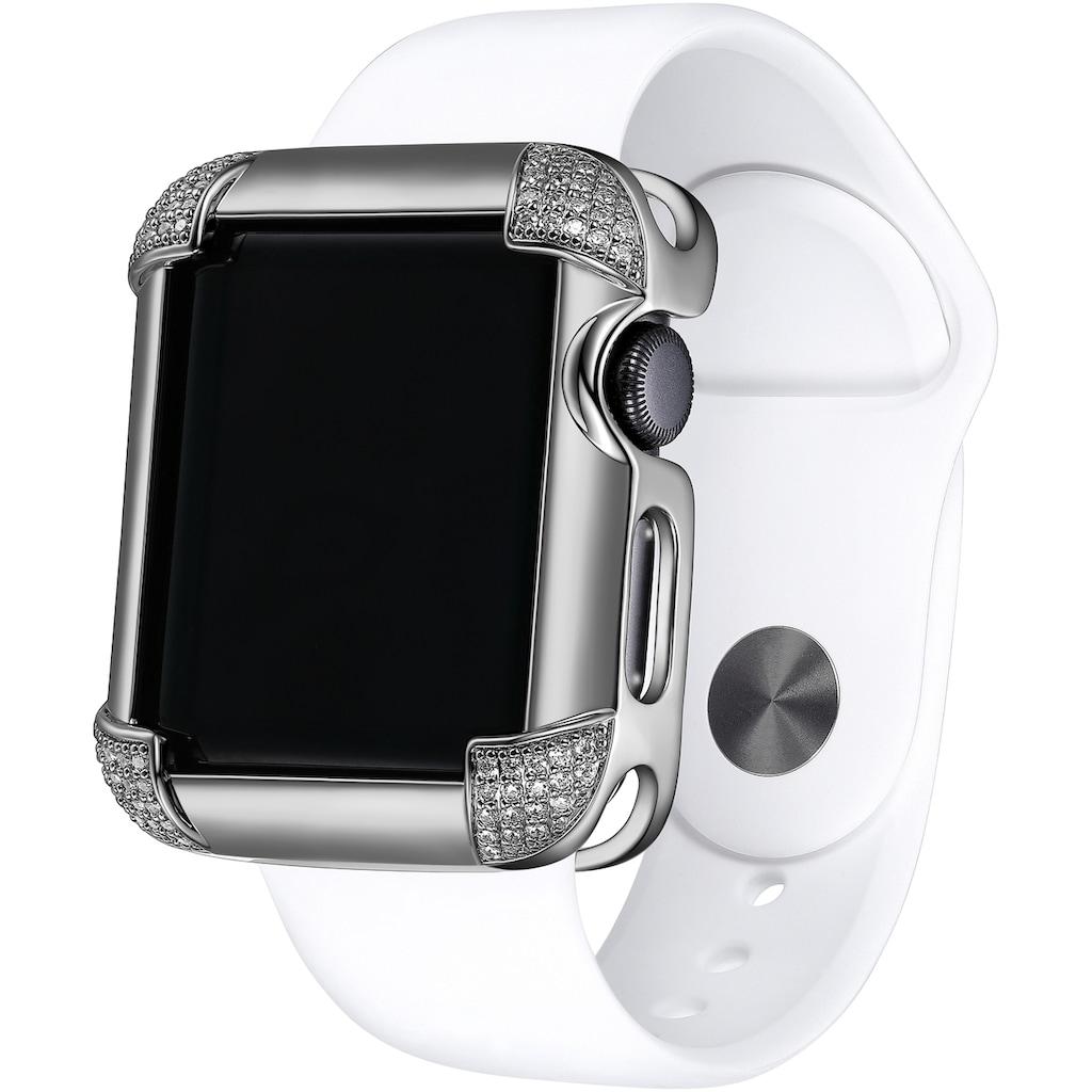 SKY•B Smartwatch-Hülle »PAVÉ CORNERS, W002S40, 40 mm«, Watch