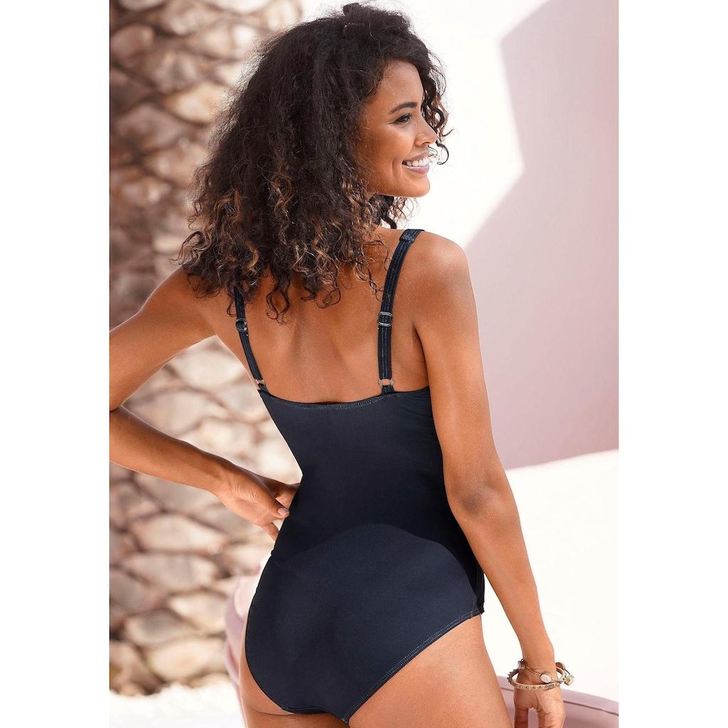 LASCANA Badeanzug »Malia«, mit tropischem Print und Shaping-Effekt
