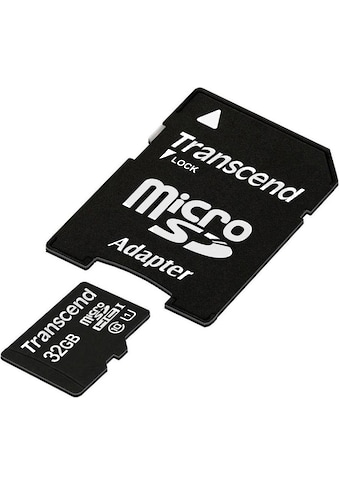 Transcend »microSDXC/SDHC Class 10 UHS - I + SD Adapter« Speicherkarte (45 MB/s Lesegeschwindigkeit maximal) kaufen