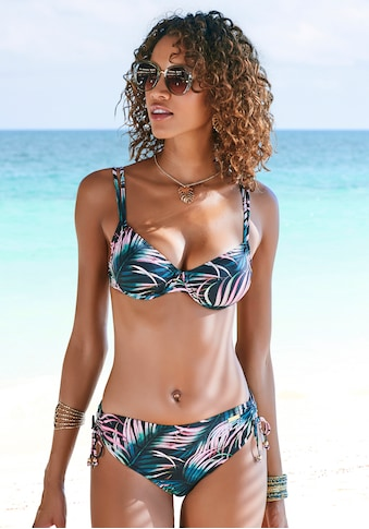 LASCANA Bügel-Bikini-Top »Reese«, mit Palmendruck kaufen