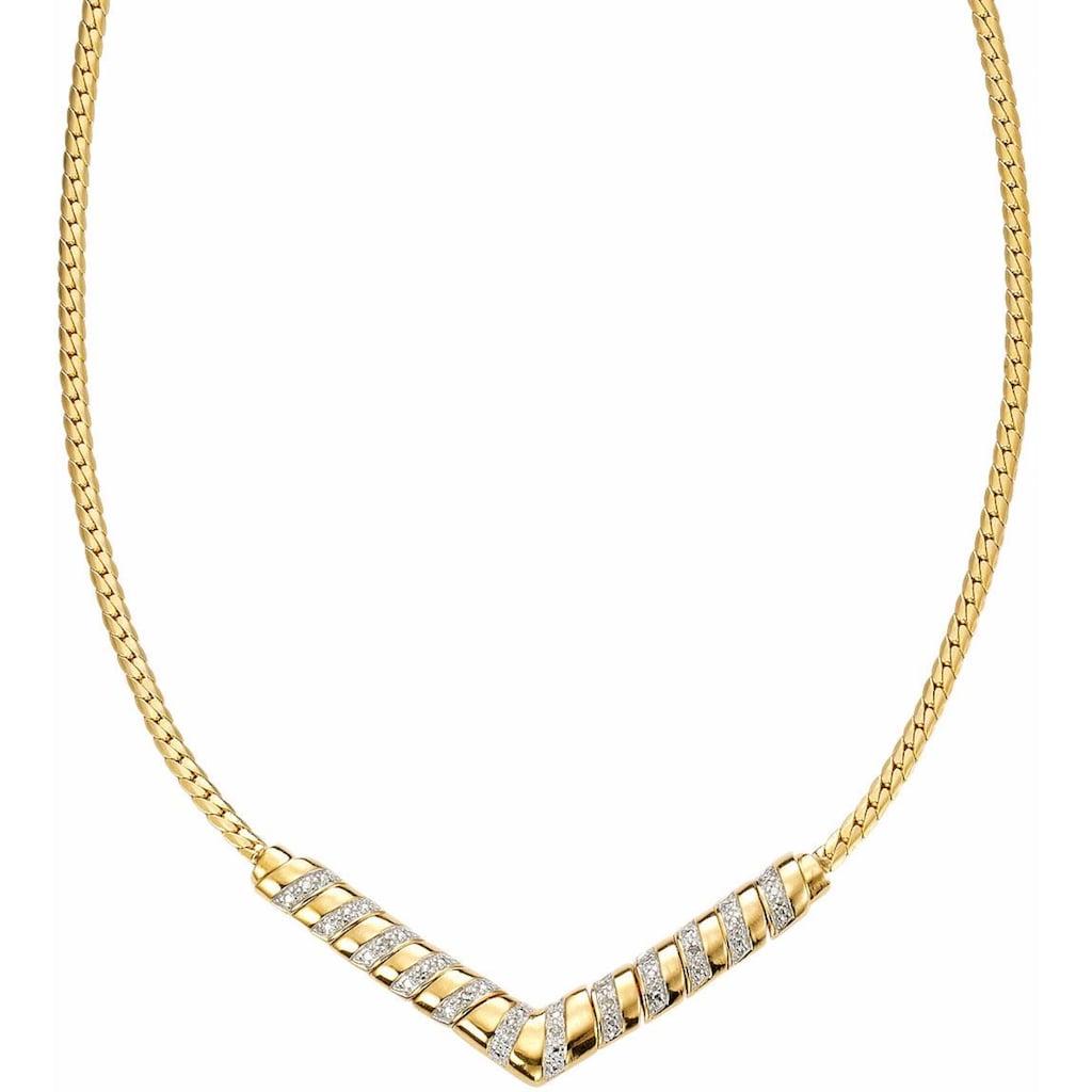 Firetti Collier »Bicolor-Optik, edles Design«, mit Diamanten