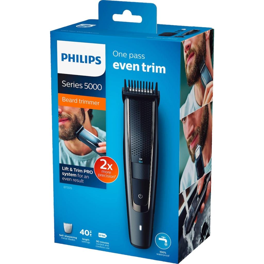 Philips Bartschneider »BT5515/15«, 3 Aufsätze, gleichmäßiges und präzises Trimmen