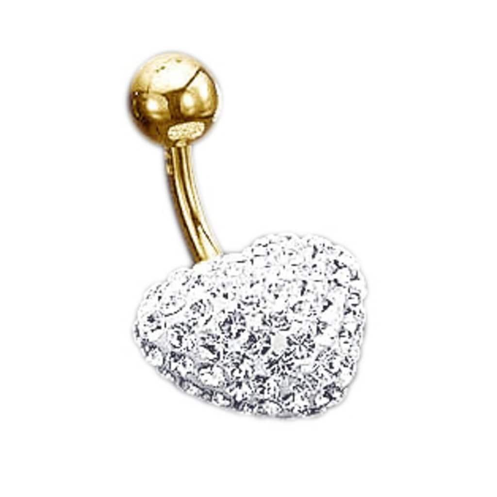 evoke Bauchnabelpiercing »Herz«, mit Swarovski-Kristallen