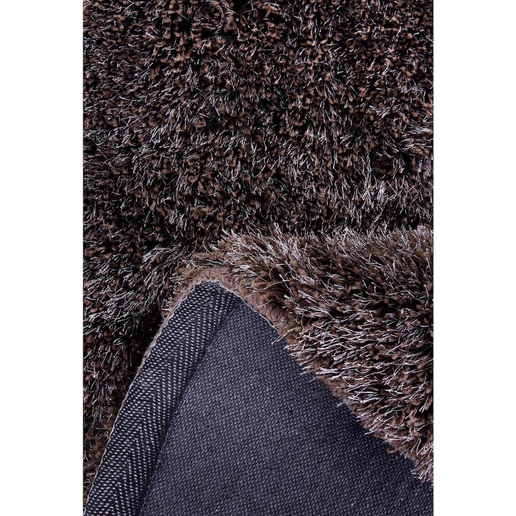 Barbara Becker Hochflor-Teppich »Emotion«, rund, 40 mm Höhe, handgetuftet, Wohnzimmer