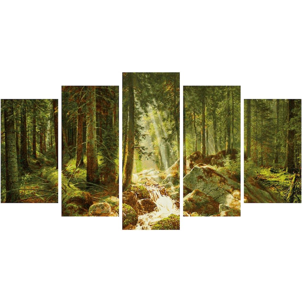 Schipper Malen nach Zahlen »Meisterklasse Polyptychon - Unser Wald«, Made in Germany
