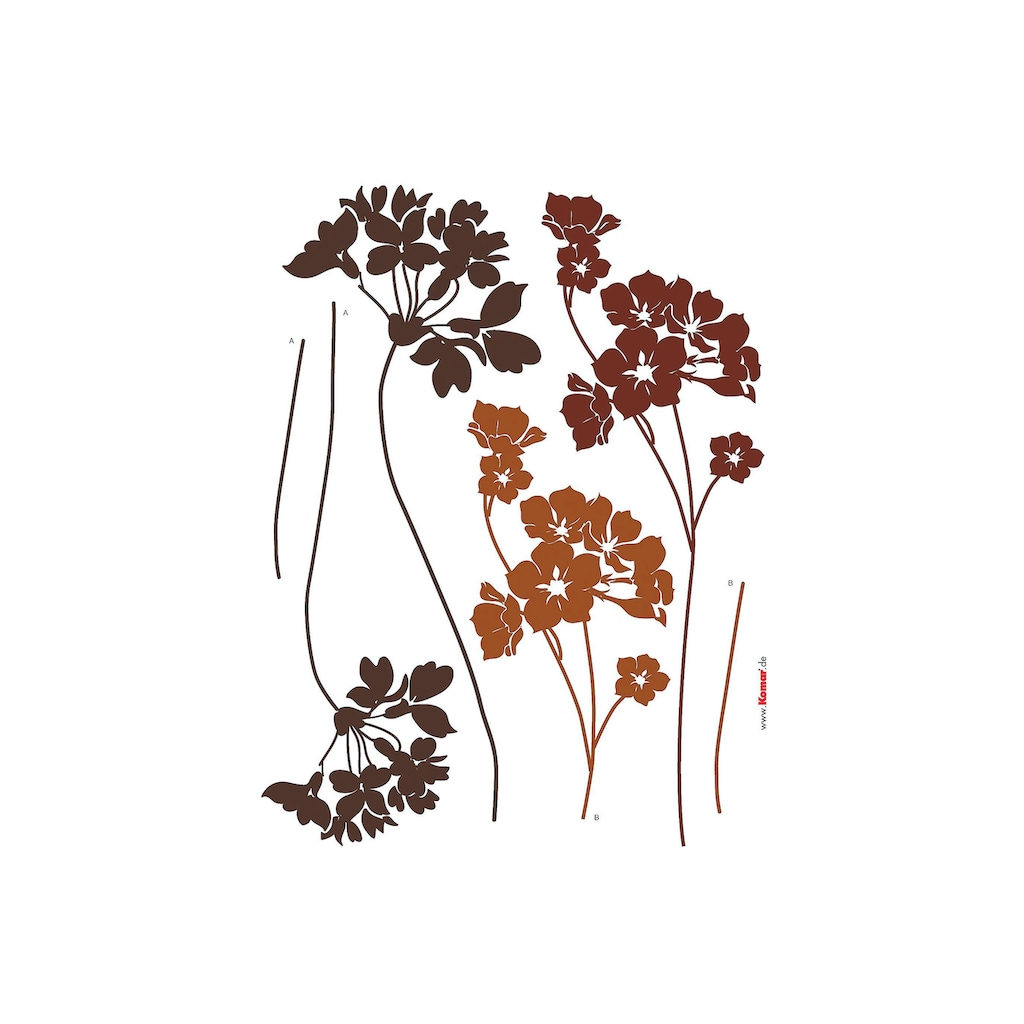 Komar Wandtattoo »Blumen«, selbstklebend